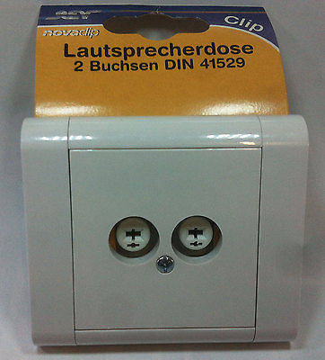 REV Clip Novaclip Schalter Steckdosen Dimmer Taster Antenne Weiß