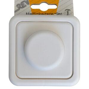 REV Standard Dimmer für Glühlampen weiß , komplett mit Rahmen