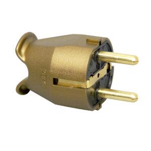 Kopp Schutzkontakt Stecker in gold