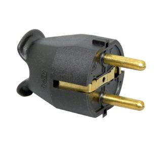 Kopp Schutzkontakt Stecker in schwarz