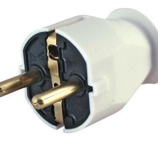 Kopp Kunststoff-Schutzkontakt Stecker weiss