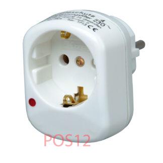 Kopp Steckdosen Adapter - Zwischenstecker Überspannungsschutz