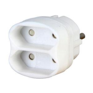 Kopp Steckdosen Mehrfachadapter 2-fach weiss
