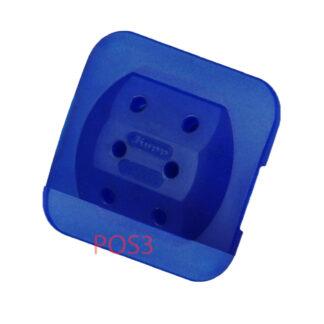 Kopp Steckdosen Mehrfachadapter - 3fach blau flach