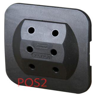 Kopp Steckdosen Mehrfachadapter - 3fach schwarz flach