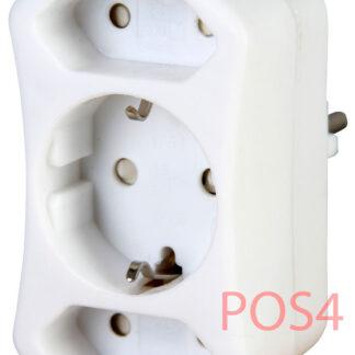 Kopp Steckdosen Schutzkontakt Mehrfachadapter - 3fach weiss