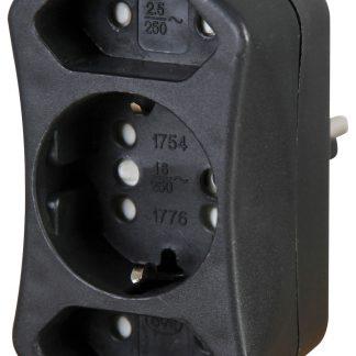 Kopp Steckdosen Mehrfachadapter - Duoversal schwarz