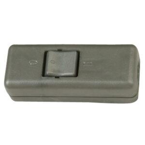 Kopp Schnurschalter 10A, 2-polig, silber