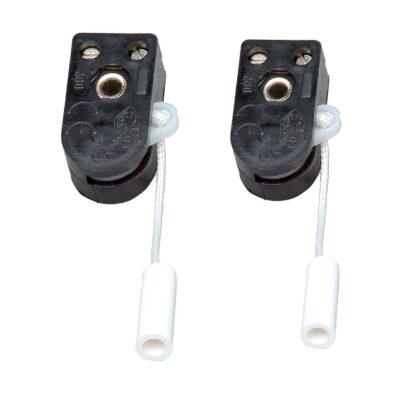 2 x Kopp Einbau - Zugschalter 1 polig 2A / 250V ~