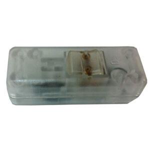 Schnurschalter 10A, 2-polig, transparent