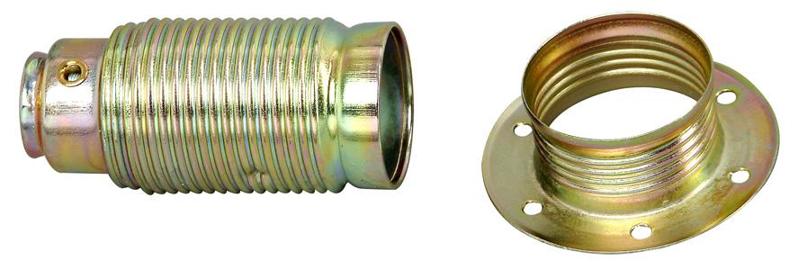 REV Metall Fassung E14 mit Außengewindemantel