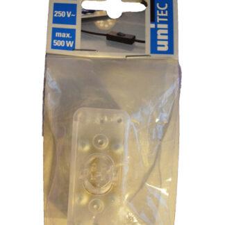 Unitec Schnurschalter 2A 1-polig transparent