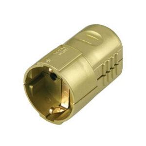 Schutzkontakt Kupplung gold 0512112777