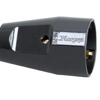 Kopp Schutzkontakt Kupplung schwarz