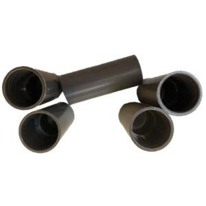 Edisun Steckmuffen Verbindungsmuffen Steckmuffe für Isolierrohr EN16, 5 Stück