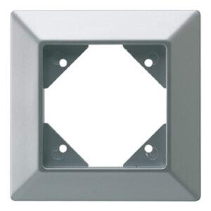 REV Standard Quadro 1 fach Rahmen silber