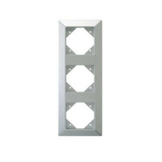 Rev Standard Quadro 3fach Rahmen silber