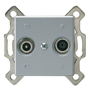 REV Standard Quadro Antennendose silber