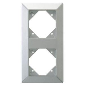 Düwi REV Standard Quadro 2-fach Rahmen , silber