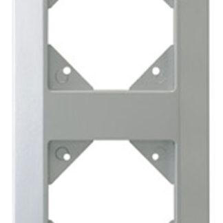 REV Standard Quadro 2fach Rahmen silber