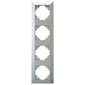 Düwi REV Standard Quadro 4-fach Rahmen , silber