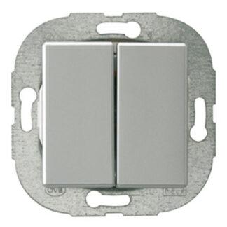 REV Standard Quadro Serienschalter silber