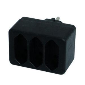 Düwi REV Übergangsstecker 4-fach, schwarz