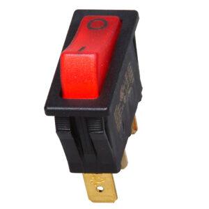 Kopp Einbau-Wippenschalter, 1-polig, beleuchtet, 250V~, 6A, 10mmx30mm