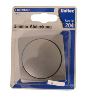 Unitec Serie 204 Monaco Dimmer Abdeckung , platin