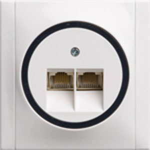Düwi REV Ascoli weiß - ISDn UAE IAE Dose Ascoli, weiss-schwarz, ISDN-Dose, inkl. Rahmen