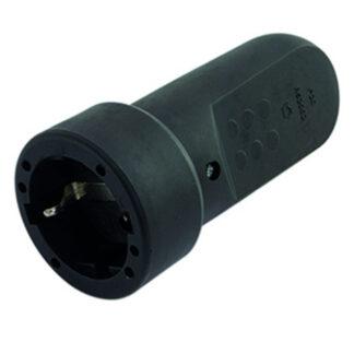 Düwi Schutzkontakt-Kupplung Gummi, schwarz