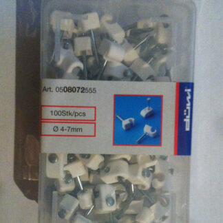 100 x Düwi / REV Iso Nagelschellen kabelschellen 4 -7 mm weiss