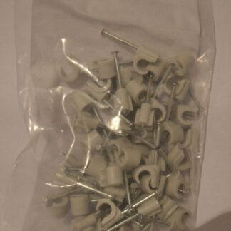 Kopp Nagelschellen iso Schellen ,Stahlnagel Nagel Schellen 7-10mm 100 Stück grau