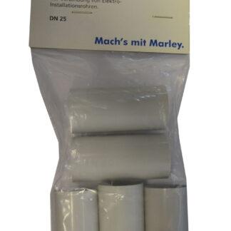 Marley Steckmuffe DN 25 zur Verbindung Elktroinstallationsrohren 5Stück