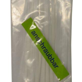 Düwi REV Kabelbinder anschraubbar mit Befestigungsöse 200 x 4,2 mm weiß, 25Stück
