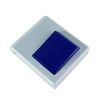 Düwi REV Fußtretschalter Ausschalter mit Zugentlastung 1 polig 3 A silber blau