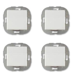 Düwi REV Standard Quadro Aus-/Wechselschalter - Set Schalter 4 Stück weiß