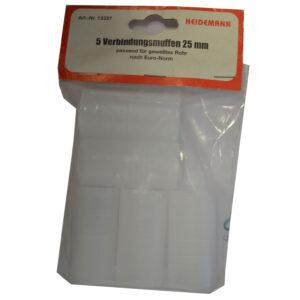 Heidemann Verbindungsmuffen 25 mm passen für gewelltes Rohr 5Stück