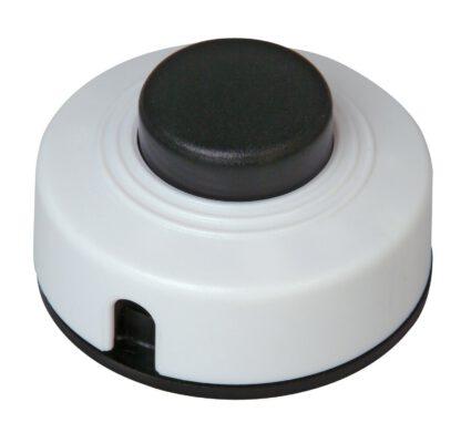 Kopp Fußtretschalter Ausschalter mit Zugentlastung 1 polig 2 A 250V weiß