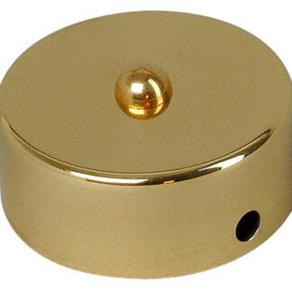 Kopp Abzweig Baldachin - Messing Gold