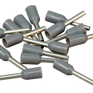 Düwi REV Ader Endhülsen mit Kunststoffkragen, 0,75 mm², 100 Stück, grau