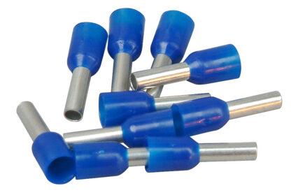 REV Ader Endhülsen mit Kunststoffkragen, 2,5mm², 100 Stück, blau