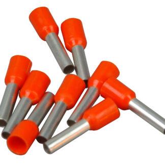 Kopp Ader Endhülsen mit Kunststoffkragen, 4mm², 25 Stück, orange