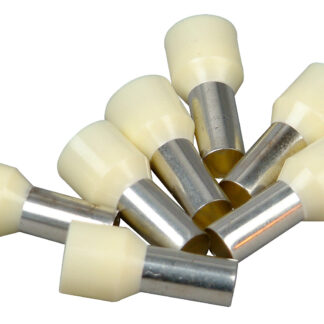 Kopp Ader Endhülsen mit Kunststoffkragen, 16mm², 25 Stück, elfenbein