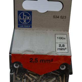 LUX Aderendhülsen 2,5 mm² blank , 100 Stück