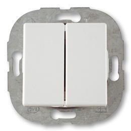 Düwi REV Standard Quadro Serienschalter , alpinweiß