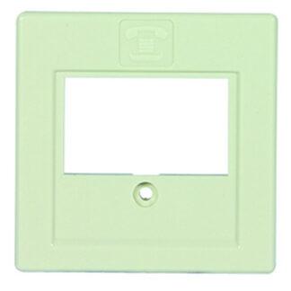 REV Standard Quadro Abdeckung für Telefondose , cremeweiß