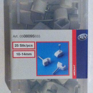 25 x REV Iso Nagelschellen Kabelschellen 10 -14 mm mit Stahlnadel grau