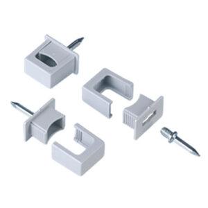 REV Raster Druckschelle, 6 - 16 mm, grau, 8 Stück