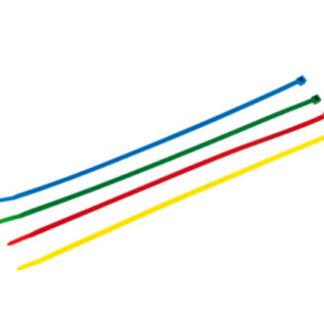 REV Kabelbinder Farbset, 300 x 4,8 mm, farbig, 100 Stück